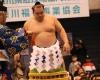 横綱鶴竜の土俵入。